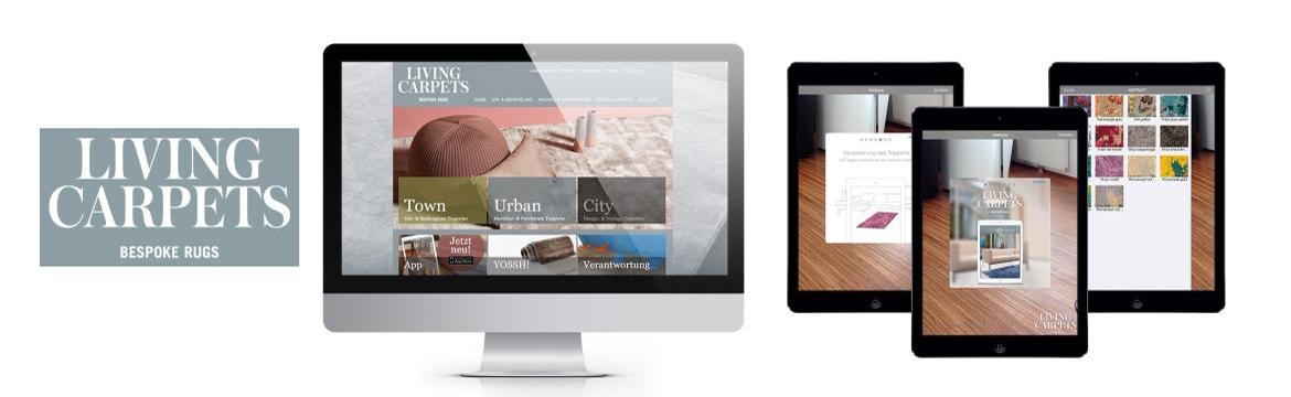 Webdesign LivingCarpets, Homepage, Website