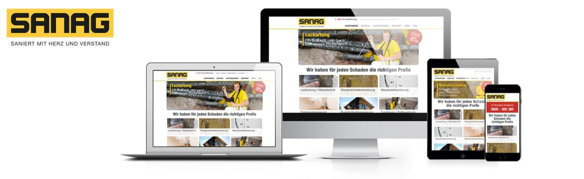 Responsive Homepage Sanag, Website, Webdesign