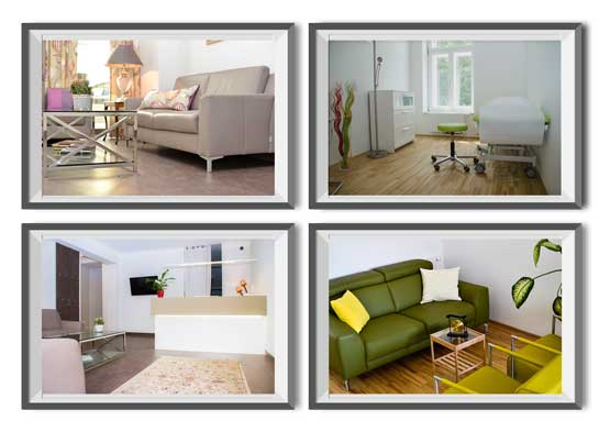 Photoshooting von Immobilien
