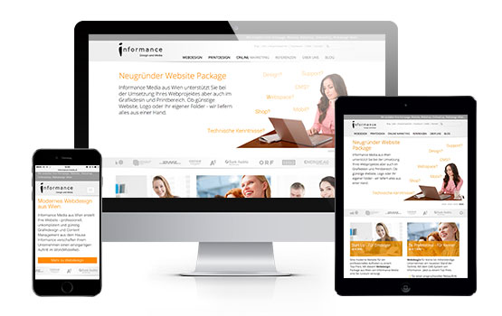 Mobile Homepage, Responsive Design Wien