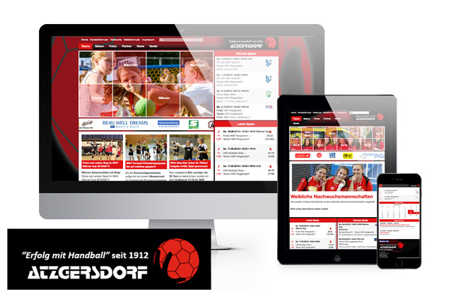 Responsive Webdesign Handballverein